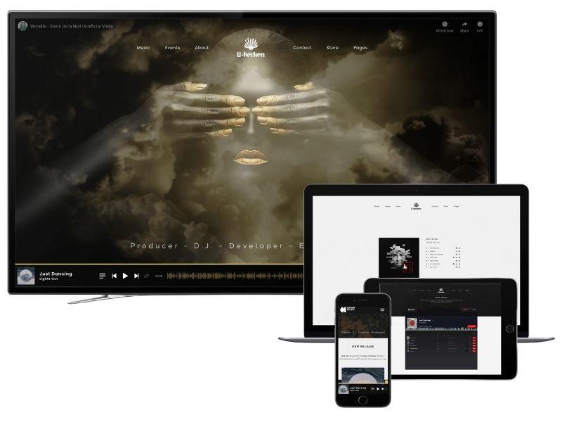 U-Recken website mockup